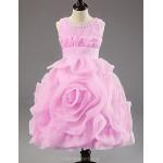 A-line/Princess Tea-length Flower Girl Dress - Chiffon/Polyester Sleeveless Flower Girl Dresses
