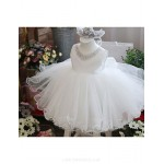 Ball Gown Knee-length Flower Girl Dress - Satin/Tulle Sleeveless Flower Girl Dresses