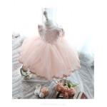 Ball Gown Knee-length Flower Girl Dress - Lace/Tulle Sleeveless Flower Girl Dresses
