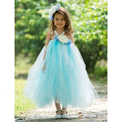 A Line Ankle Length Flower Girl Dress Rayon
