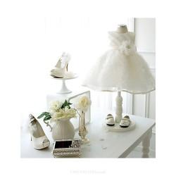 Ball Gown Knee Length Flower Girl Dress Lace Organza Sleeveless