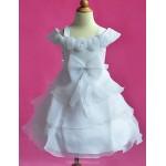 A-line Knee-length Flower Girl Dress - Organza Sleeveless Flower Girl Dresses