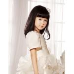 Ball Gown/Princess Short/Mini Flower Girl Dress - Satin/Tulle Short Sleeve Flower Girl Dresses