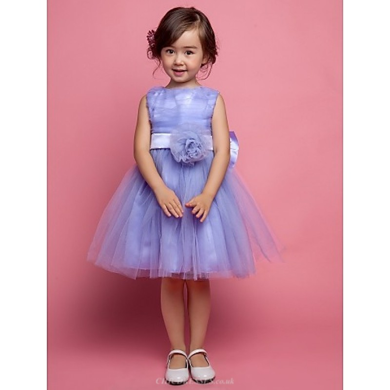 418900d9f3aec A-line/Ball Gown/Princess Knee-length Flower Girl Dress - Satin ...