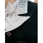 White Polester/Cotton Blend Ring Bearer Suit - 5 Pieces Flower Girl Dresses