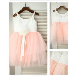 A-line Knee-length Flower Girl Dress - Chiffon