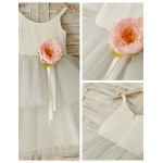 A-line Knee-length Flower Girl Dress - Chiffon Flower Girl Dresses