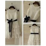 A-line Knee-length Flower Girl Dress - Chiffon Flower Girl Dresses