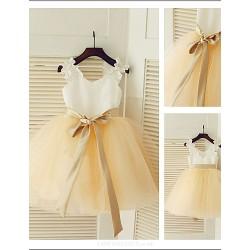 Beautiful Ball gown Princess Jewel Flower Girl Dress