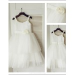 A-Line Princess Spaghetti Straps Tulle And Sequined Beautiful Flower Girl Dress Flower Girl Dresses