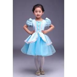 Ball Gown Knee Length Flower Girl Dress Satin Tulle Short Sleeve