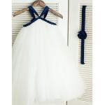 Princess Tea-length Flower Girl Dress - Tulle Sleeveless Flower Girl Dresses