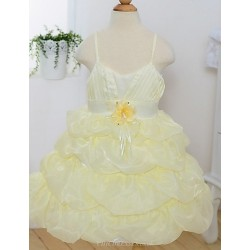 Princess Tea-length Flower Girl Dress - Satin Sleeveless