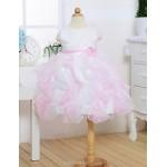 Flower Girl Dress Tea-length Satin/Tulle A-line Sleeveless Dress Flower Girl Dresses