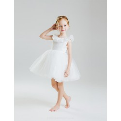 Princess Short/Mini Flower Girl Dress - Lace/Organza/Satin/Tulle/Sequined Sleeveless