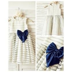 A-line Knee-length Flower Girl Dress - Organza Sleeveless