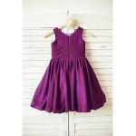 A-line Knee-length Flower Girl Dress - Chiffon Sleeveless Flower Girl Dresses