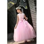 Ball Gown Ankle-length Flower Girl Dress - Satin / Tulle Sleeveless Flower Girl Dresses