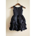 A-line Knee-length Flower Girl Dress - Taffeta Sleeveless Flower Girl Dresses