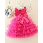 A-line Short/Mini Flower Girl Dress - Satin / Tulle Sleeveless Flower Girl Dresses