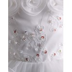 Girl White With Flower Classical Princess Flower Girl Dresses Flower Girl Dresses