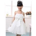 A-line/Ball Gown/Princess Knee-length Flower Girl Dress - Tulle Sleeveless Flower Girl Dresses