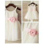 Princess Tea-length Flower Girl Dress - Tulle/Sequined Sleeveless Flower Girl Dresses