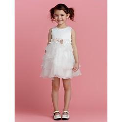 A-line Short/Mini Flower Girl Dress - Polyester
