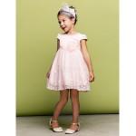 A-line/Princess Short/Mini Flower Girl Dress - Tulle Short Sleeve Flower Girl Dresses