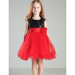 Ball Gown Short Mini Flower Girl Dress Satin Sleeveless