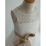 Princess Tea-length Flower Girl Dress - Lace/Tulle Sleeveless (4163514) Flower Girl Dresses