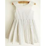 Princess Polka Dot Knee-length Flower Girl Dress - Cotton Sleeveless Flower Girl Dresses