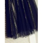 A-line Tea-length Flower Girl Dress - Tulle/Sequined Sleeveless Flower Girl Dresses