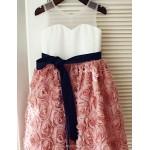 Princess Knee-length Flower Girl Dress - Lace Sleeveless Flower Girl Dresses