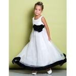A-line Ankle-length Flower Girl Dress - Organza Sleeveless Flower Girl Dresses