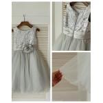 Ball Gown Knee-length Flower Girl Dress - Tulle / Sequined Sleeveless Flower Girl Dresses