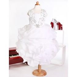 Flower Girl Dress Princess Straps Ankle Length Organza Dress