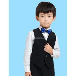 Black White Serge Ring Bearer Suit 4 Pieces