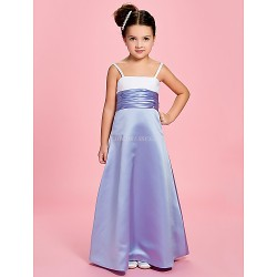 A-line/Princess Ankle-length Flower Girl Dress - Satin