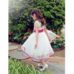 Formal Evening / Wedding Party Dress - Ivory A-line Jewel Knee-length Organza / Satin Flower Girl Dresses
