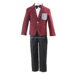 Blue Polyester Ring Bearer Suit 4 Pieces