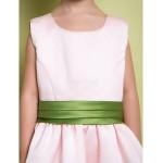 A-line Ankle-length Flower Girl Dress - Satin Sleeveless Flower Girl Dresses