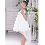 Flower Girl Dress Asymmetrical Lace/Satin/Tulle Ball Gown Sleeveless Dress Flower Girl Dresses