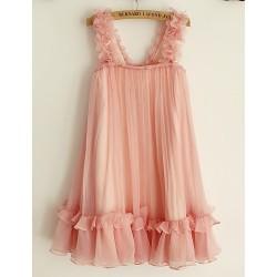 Sheath Knee-length Flower Girl Dress - Chiffon Sleeveless