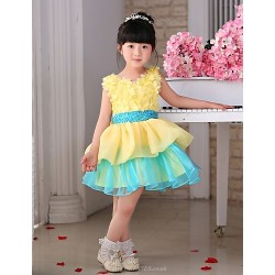 Princess Knee Length Flower Girl Dress Tulle Sleeveless
