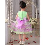 Flower Girl Dress Knee-length Organza/Tulle Princess Sleeveless Dress Flower Girl Dresses