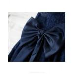 A-line Knee-length Flower Girl Dress - Lace Sleeveless Flower Girl Dresses