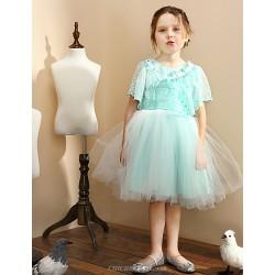 Girl Blue Satin Princess Dresses