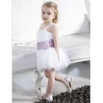 Ball Gown Knee-length Flower Girl Dress - Tulle/Stretch Satin Sleeveless Flower Girl Dresses