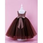A-line/Ball Gown Floor-length Flower Girl Dress - Satin/Tulle Sleeveless Flower Girl Dresses